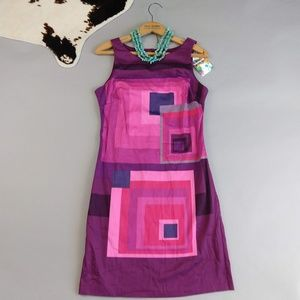 Desigual size 36 mod print sheath dress